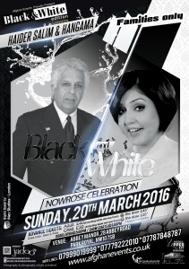 Black and white event Haider salim and hangama concert in London