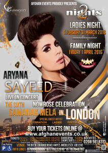 Samanak mela 2016 featuring Aryana sayeed in London