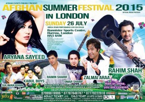 Afghan summer festival 2015 in London with Zalmai Araa
